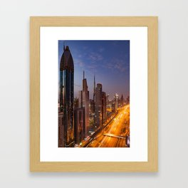 Dubai #society6 #decor #buyart Framed Art Print