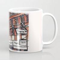 philippines Mugs featuring Philippines : Calvo Building by Ryan Sumo