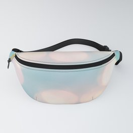 Cotton Candy Pink Baby Powder Blue Bokeh Lighting Abstract Pattern Fanny Pack