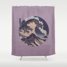 The Great Wave Off Kanagawa Erupting Mt Fuji Shower Curtain