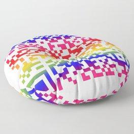 Cool QR code pattern Floor Pillow