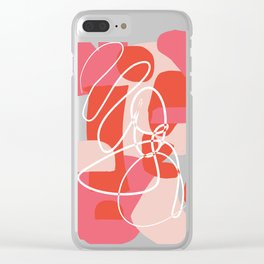 Shape Study in Pink Clear iPhone Case