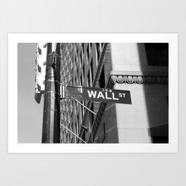 Wall St. - B&W Art Print