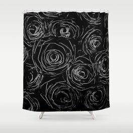 Black White Abstract Shower Curtain