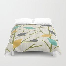 Mid Century Modern Birdsong Duvet Cover