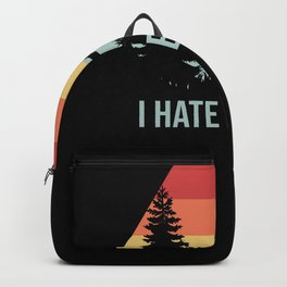 I Hate People Camping Mountains Backpack
