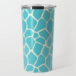 Giraffe Pattern Animal Print (aqua) Travel Mug
