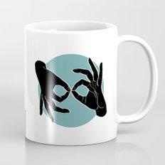 Sign Language (ASL) Interpreter – Black on Turquoise 00 Mug