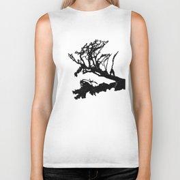 Fallen Tree - Minimalist Print Biker Tank