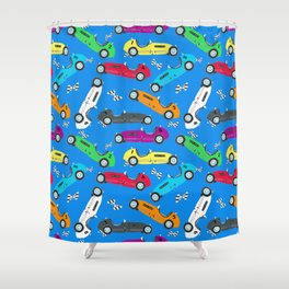 Jack's Vintage Race Cars - Indy 500 Shower Curtain