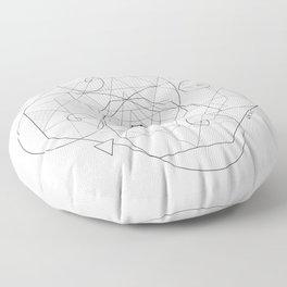 Fibonacci Geometric Mandala Floor Pillow