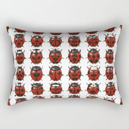 Ladybug Pattern Rectangular Pillow