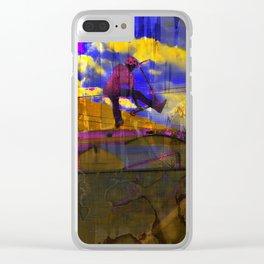 Stuntman - Stunt Scooter Sports Art Clear iPhone Case