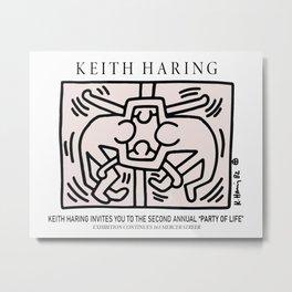Unity - Keith Art, Exhibition Poster, Japan Vintage Print Metal Print