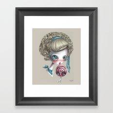 Stop licking me Framed Art Print