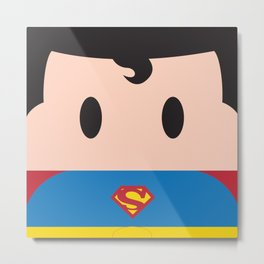 Superman Block Metal Print