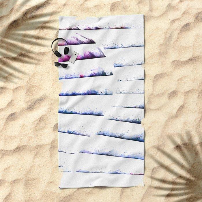α White Crateris Beach Towel