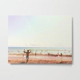 Hot Surf Metal Print