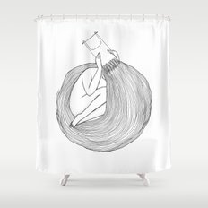 Post Surf Comb-Out Shower Curtain