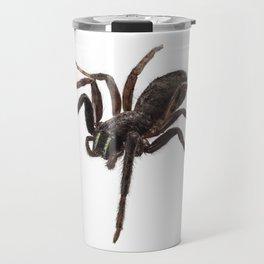 Black spider species tegenaria sp Travel Mug