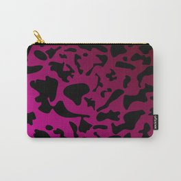 Spotty pink blots on a dark military gradient. Carry-All Pouch