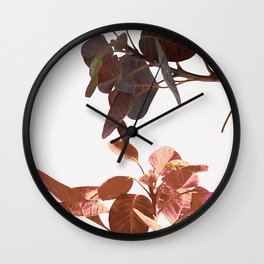 Leaves Spring Nature Wall Clock