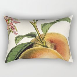 A peach plant - vintage illustration Rectangular Pillow