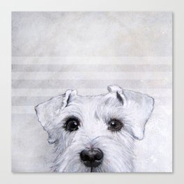 Schnauzer original Dog original painting print Canvas Print