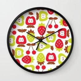 Shabby Chic Fruits Pattern Wall Clock