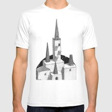 Hyrule Castle  White LARGE Mens Fitted Tee