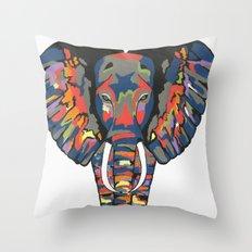 Flashy Elephant Throw Pillow