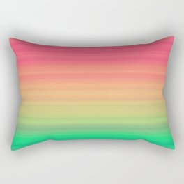Tropical stripes Summer pattern Rectangular Pillow