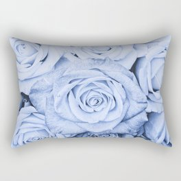 Some people grumble - Blue Rose, Floral Roses Flower Flowers on  #Society6 Rectangular Pillow