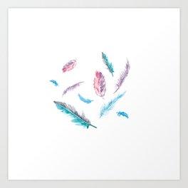 Fantasy Feathers Art Print