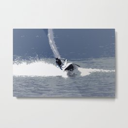 Wild Jet-Skier Metal Print