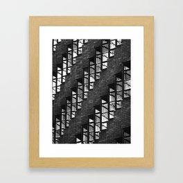 07 Black & White Windows Rows Framed Art Print