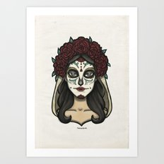 Painted Face Series : Sugarskull Art Print