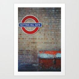 London - Notting Hill Gate Art Print