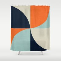 mod Shower Curtains featuring mod petals by her art