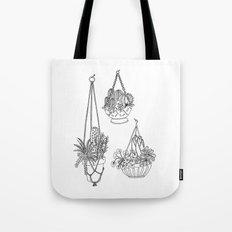 macramé plant hanger.  Tote Bag