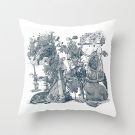 seam imaginations Throw Pillow