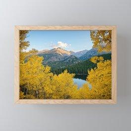 BEAR LAKE COLORADO AUTUMN ROCKY MOUNTAIN NATIONAL PARK FALL LANDSCAPE PHOTOGRAPHY Framed Mini Art Print