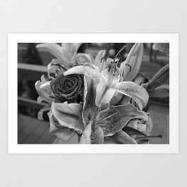 Just for you black and white Art Print