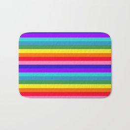 Stripes of Rainbow Colors Bath Mat
