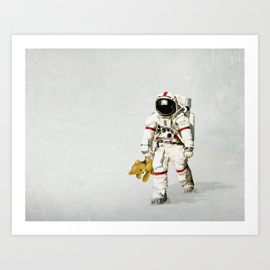 Space can be lonely Art Print