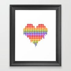 Gingham Heart Framed Art Print