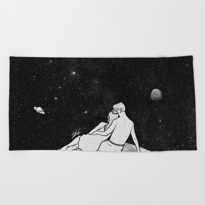 The greatest moon. Beach Towel