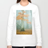 autumn Long Sleeve T-shirts featuring Autumn Woods by Olivia Joy StClaire