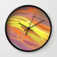 aurora Wall Clocks featuring Aurora by Ma. Luisa Gonzaga