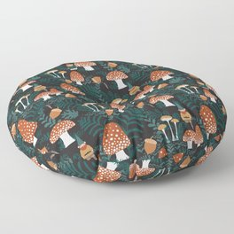 Mushroom Forest Gnomes Floor Pillow